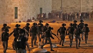 المواجهات في القدس (ا ف ب)