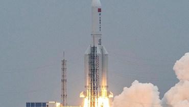 الصاروخ الصيني (ا ف ب)