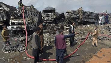 انفجار سابق في كايول (أ ف ب).