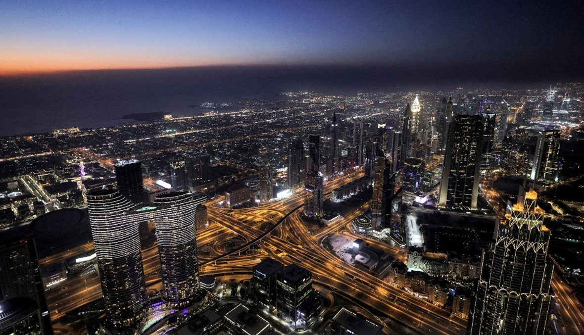 منظر لمدينة دبي من برج خليفة (9 ايار 2021، أ ف ب).