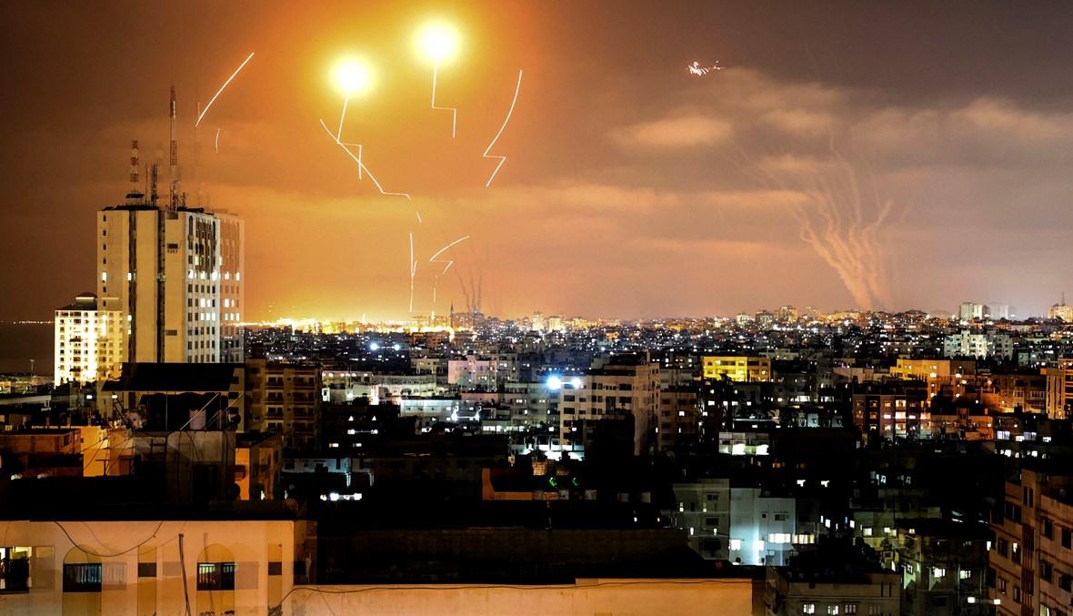 إطلاق صواريخ من غزة باتجاه القدس (أ ف ب).
