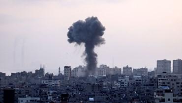 القصف الإسرائيلي على غزة (أ ف ب).
