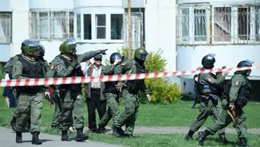 من مكان إطلاق النار في روسيا.