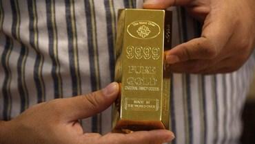 الذهب يهبط (تعبيرية - أ ف ب).