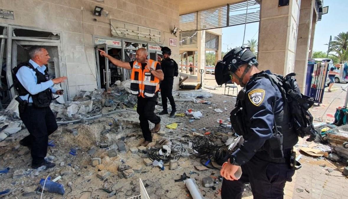 صورة للدمار الذي حلّ بأحد المباني الإسرائيلية
