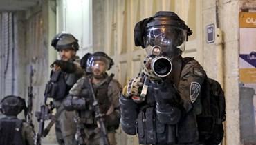 القوات الإسرائيلية في الضفة الغربية (أ ف ب).