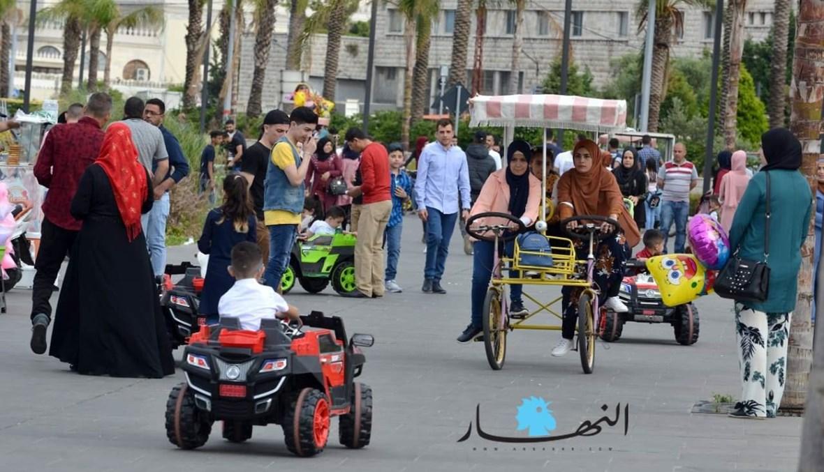 حركة في طرابلس خلال العيد في العام الماضي.