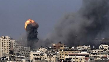 غارات إسرائيلية على غزة (أ ف ب).