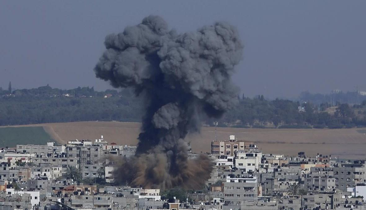 """قصف إسرائيلي على غزة، 11 ايار 2021 - """"أ ب"""""""