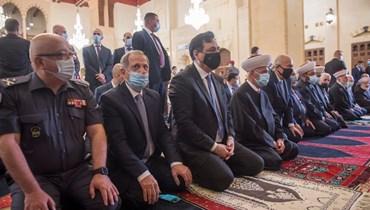 المفتي دريان والرئيس دياب (تصوير حسام شبارو ومارك فياض)