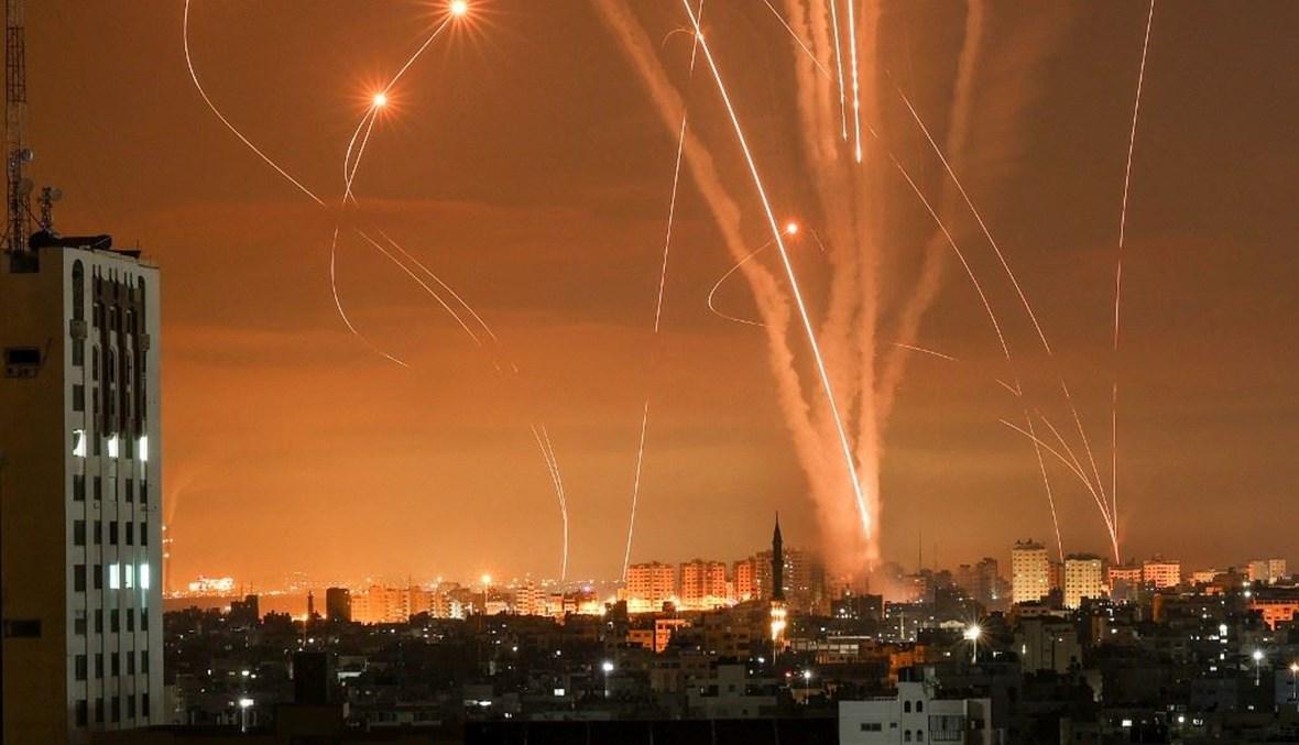 القصف الاسرائيلي على غزة (ا ف ب)