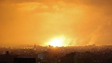 القصف مسنمر على غزة (ا ف ب)