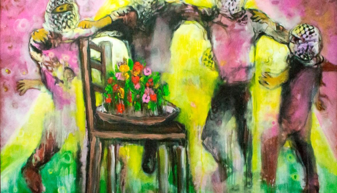 استحالة النجاة (لوحة للفنان رائد عيسى).