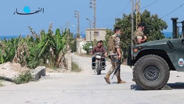 دوريات عسكرية للجيش في صور (أحمد منتش).