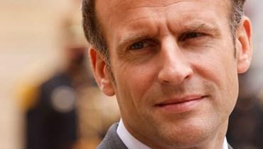 ماكرون خلال استقباله رئيس الأرجنتين (ليس في الصورة) في قصر الإليزيه في باريس (12 ايار 2021، أ ف ب).