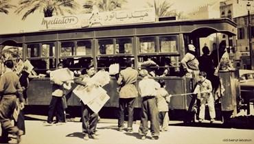 بيروت في البال- رسائل الترامواي السياسية... والحافلات هدف لرشق الحجارة والبندورة