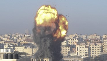 القصف الإسرائيلي على غزة (ا ف ب)