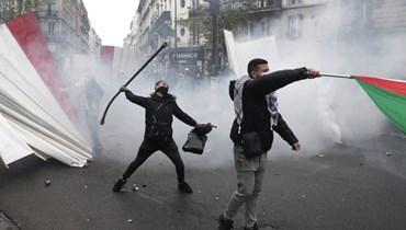 مخاوف من صدامات... اصرار على تظاهرة مؤيّدة للفلسطينيين في باريس برغم حظرها (صور وفيديو)