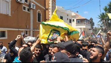 تشييع جثمان محمد طحان في عدلون (أحمد منتش).