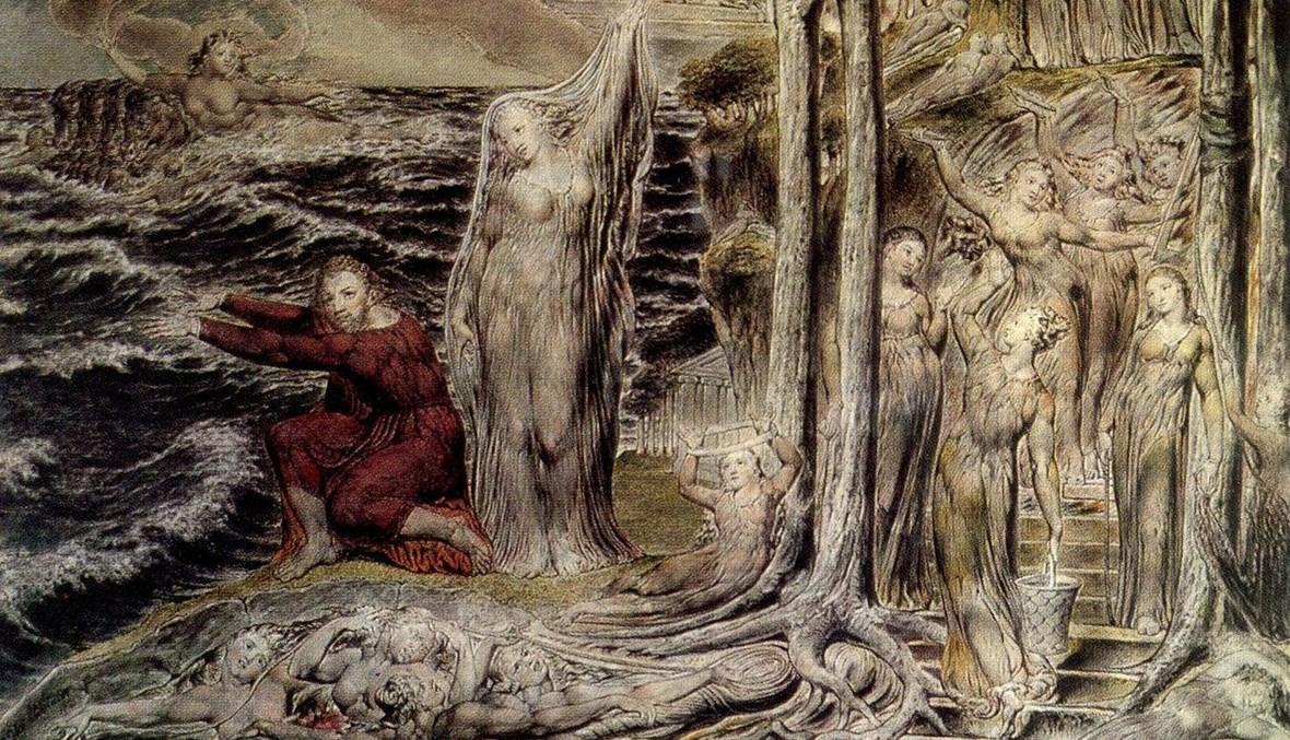 بدايات البشرية (تعبيرية- لوحة لوليم بليك).