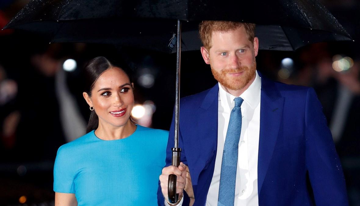 الأمير هاري وزوجته ميغان ماركل (أ ف ب).