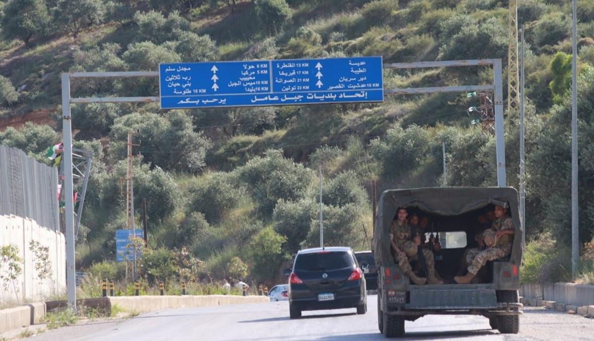 دورية للجيش في العديسة (أحمد منتش).