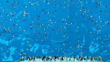حديقة السماء المزهرة معرض شوقي شمعون... سباحة في الكوزموس الأعلى تعيد صياغة الكون