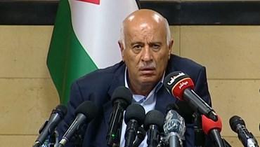 """الرجّوب لـ""""النهار"""": """"فتح"""" على تواصل مع المخيمات  الوحدة الفلسطينية متماسكة ولسنا جزءاً من إيران"""