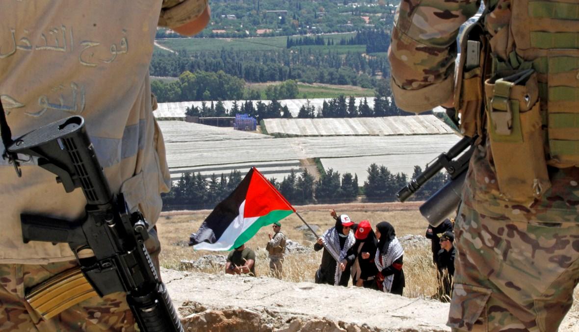 الجيش ينتشر عند الحدود الجنوبية (أ ف ب).