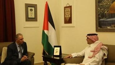 بخاري زار السفارة الفلسطينية والمجلس الشيعي لحملة تضامن