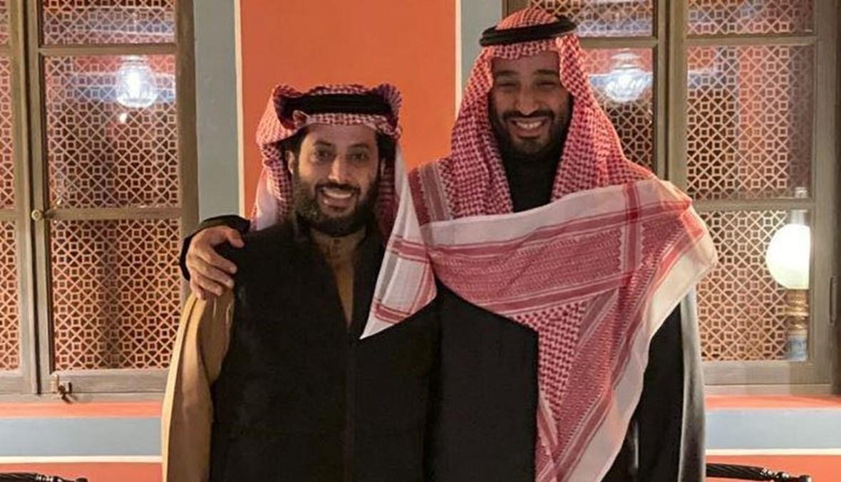 المستشار تركي آل الشيخ وولي العهد الأمير محمد بن سلمان.