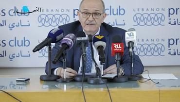 رئيس اتحاد نقابات موظفي المصارف في لبنان جورج الحاج (تصوير مارك فياض).