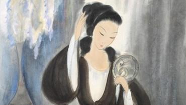 امرأة أمام مراياها (تعبيرية- لوحة للفنان الصيني لين فنغيميان).