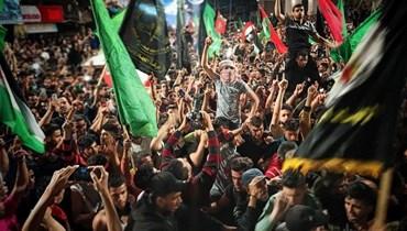 صورة من احتفالات سكان غزة بالنصر
