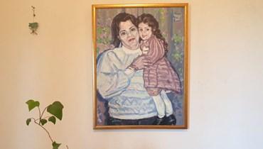 أحلام الأمومة (لوحة لأسامة بعلبكي).