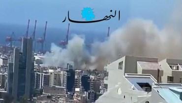الدّفاع المدني يخمد حريقاً في الدّورة (مارك فياض).
