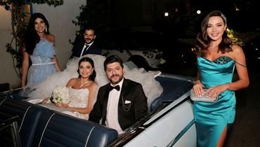 داليدا خليل في زفاف طوني عيسى.