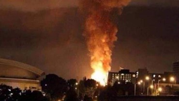 صورة من التفجيرات المجهولة في إيران