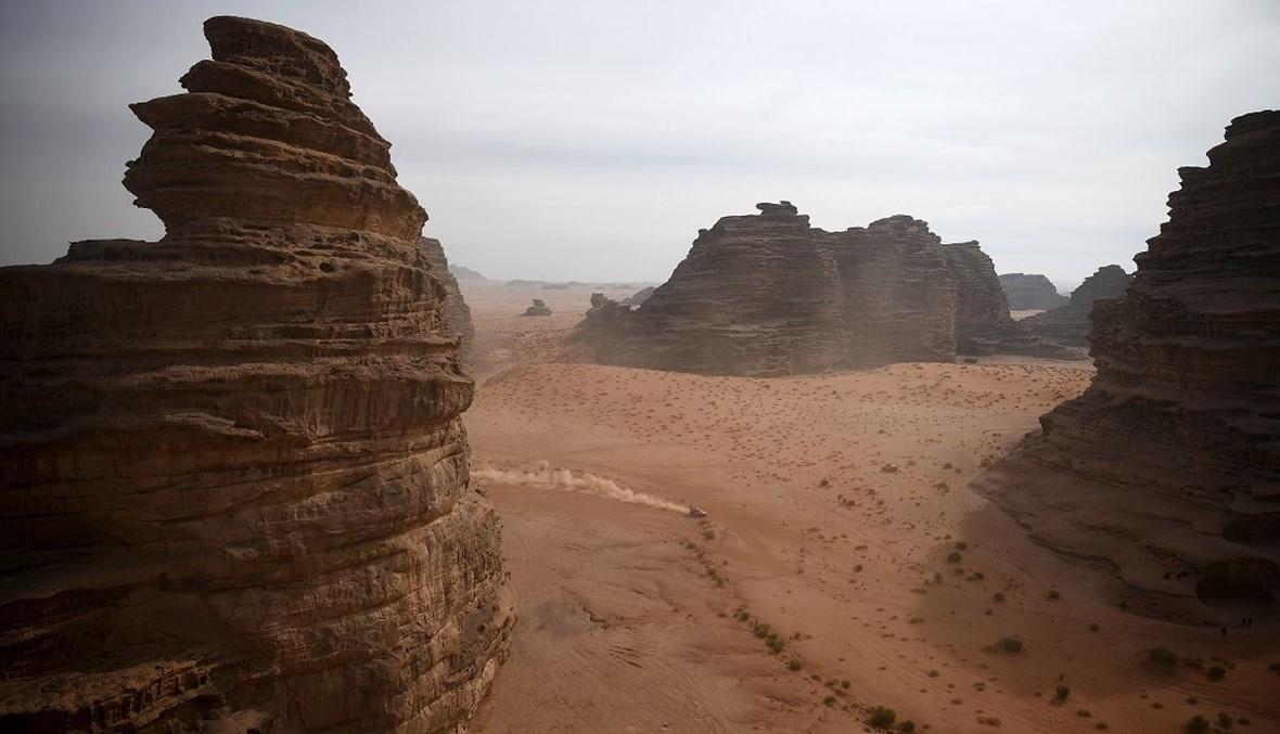 منظر عام لصحراء العلا في المملكة السعودية (تعبيرية- أ ف ب).