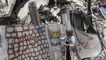 الدمار في غزّة (أ ف ب).