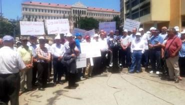 اعتصام لروابط المقاعدين (أرشيفيّة).