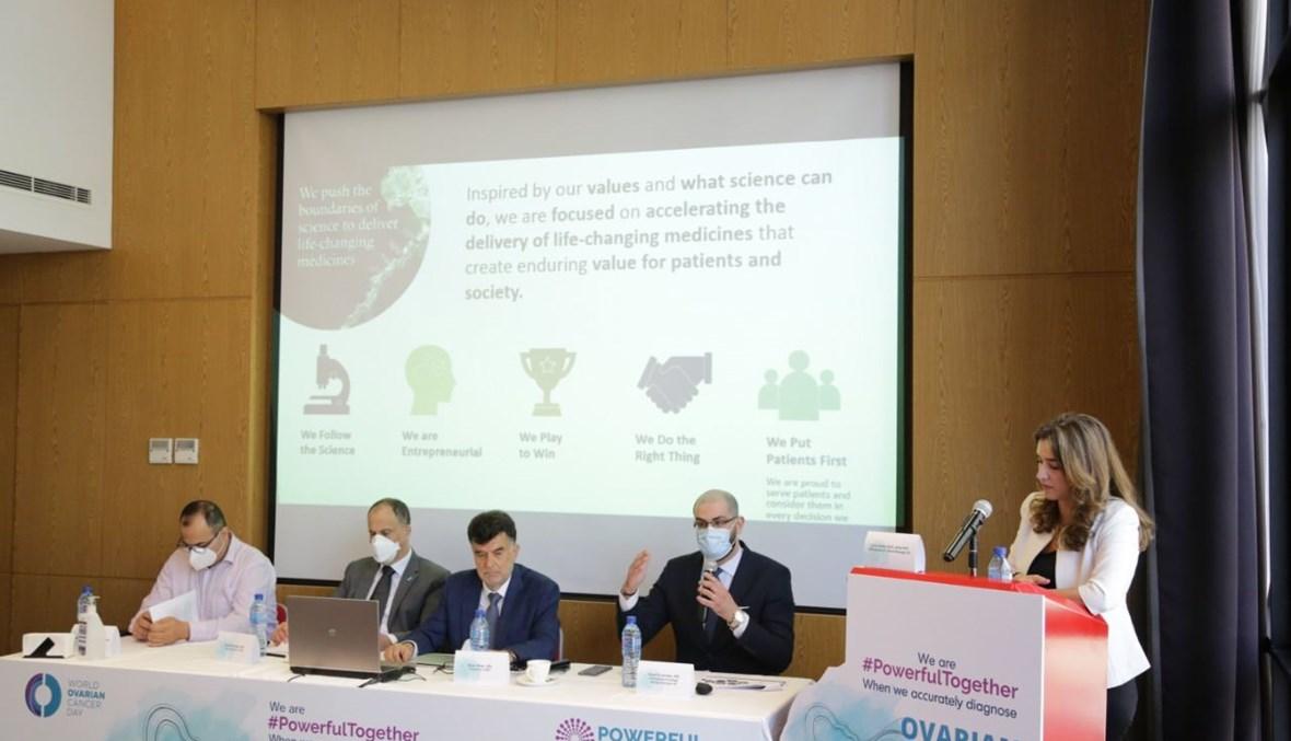 الدكتور وائل الحلاق يتحدّث إلى جانب البروفيسور نزار بيطار، هاني نصار ولبروفيسور دافيد عطالله خلال المؤتمر.