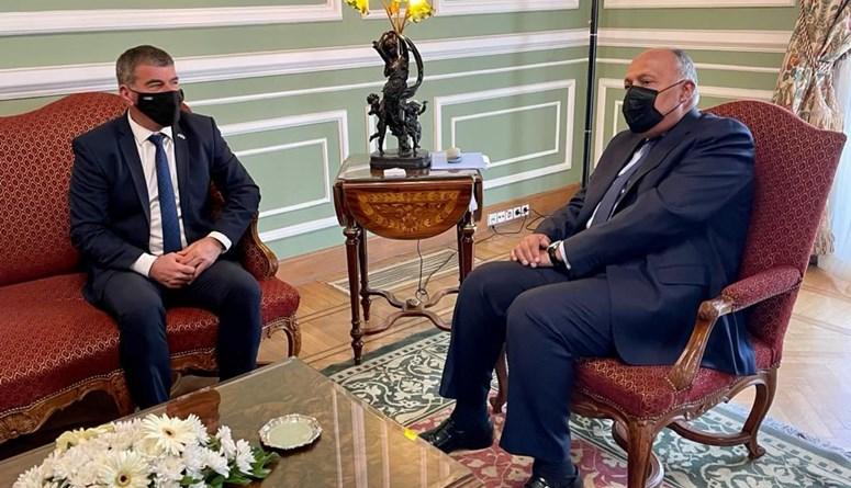 """أشكينازي في القاهرة: لقاء مع شكري للبحث في """"إحياء مسار السلام والبناء على وقف إطلاق النار في غزة"""""""