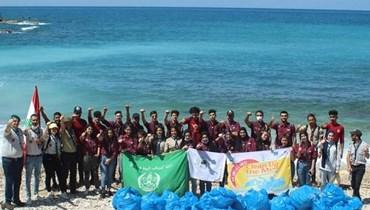 جمعية كشاف البيئة تشارك بتنظيف شاطئ جبيل.