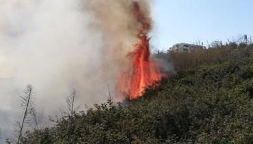حريق في القليعة- مرجعيون (تعبيريّة).