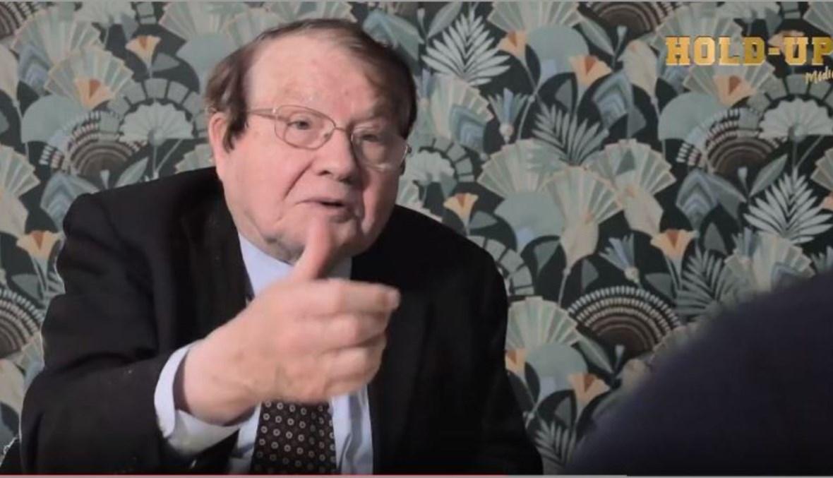 لقطة شاشة للعالم الفرنسي لوك مونتانييه خلال المقابلة معه (انترنت).