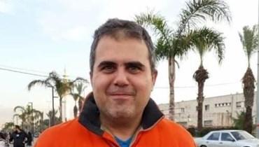المواطن عياش الذي قضى فجر اليوم في الميناء.