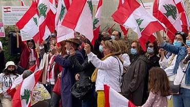 تظاهرة لبنانية في باريس طالبت بالحياد