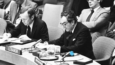 غسان تويني سفيراً للبنان في الأمم المتحدة (أرشيفية).