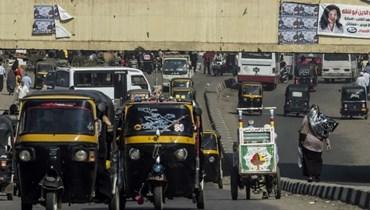 صورة للتوكتوك في الشوارع المصرية